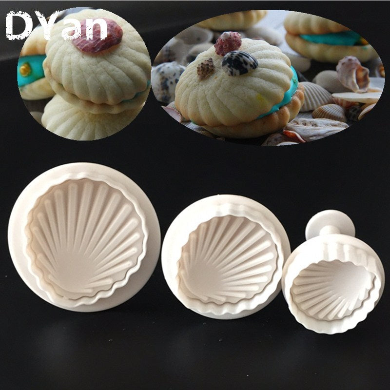 3 Pcs Fondant Cake Decorating Sugar Craft Plunger Cutter - 4LAUNT.COM