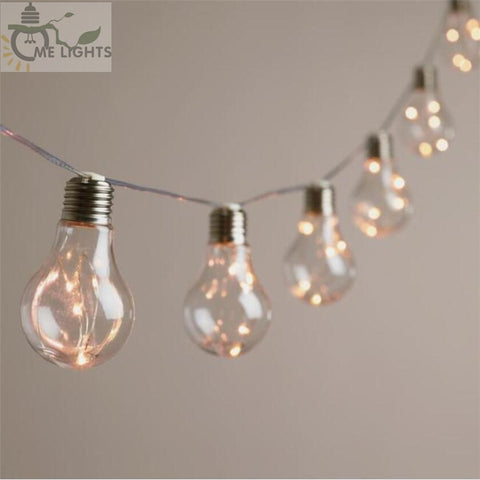 4M 10 Vintage Bulbs LED Garland String Fairy Lights - 4LAUNT.COM