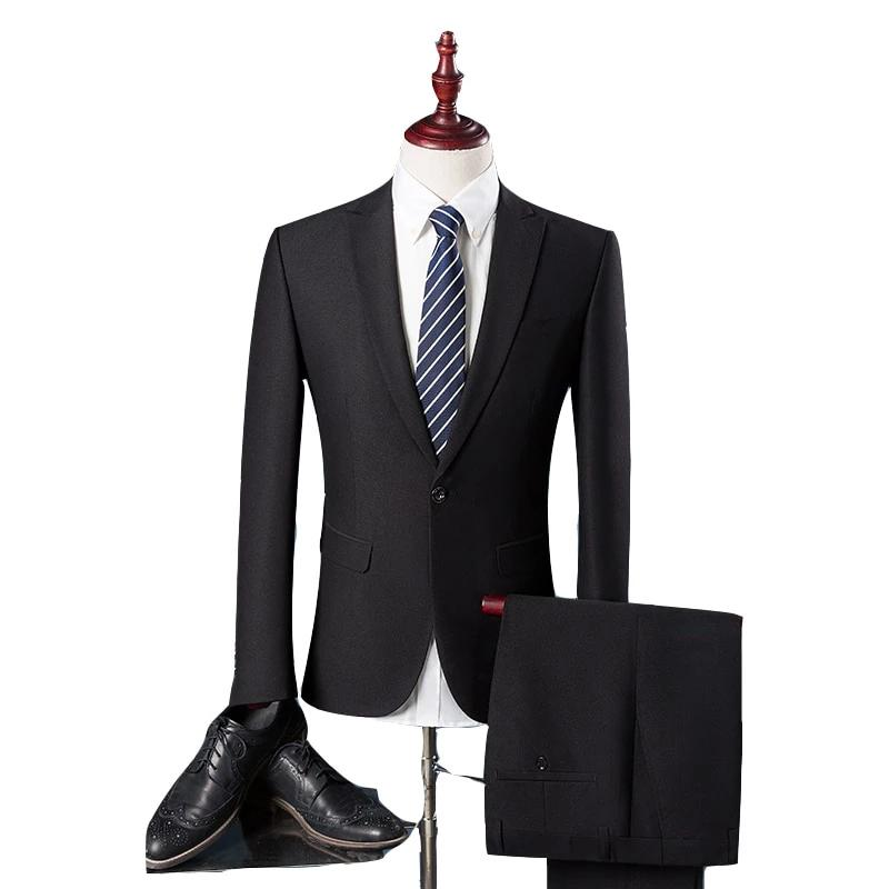 Men's Luxury Slim Fit Cotton Suit - 4LAUNT.COM