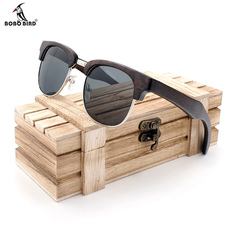 BOBO BIRD Retro Wood Unisex Polarized Sunglasses - 4LAUNT.COM