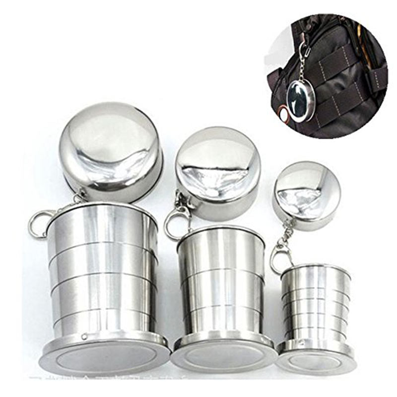 Mini Stainless Steel Portable Camping Telescopic Mugs - 4LAUNT.COM