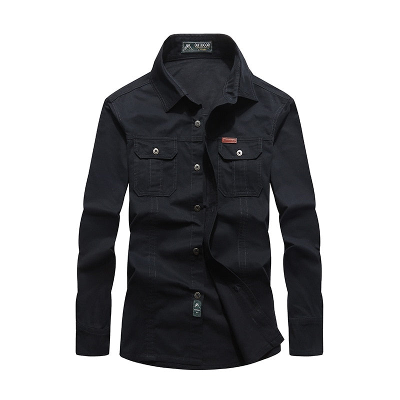 Men's Retro Classic Denim Shirt - 4LAUNT.COM