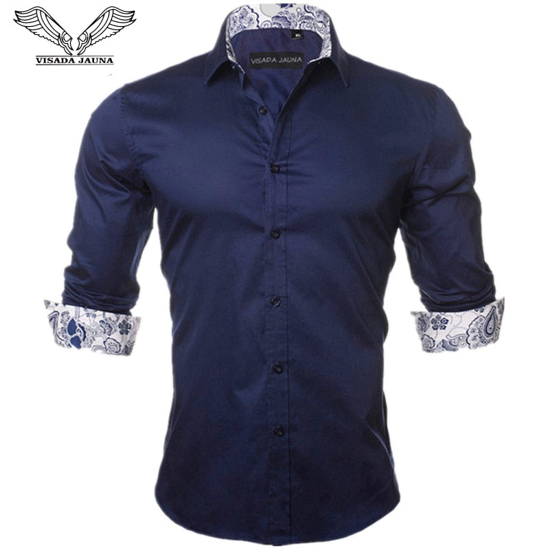 Designer Men's 100% Cotton Slim Fit Shirt - 4LAUNT.COM
