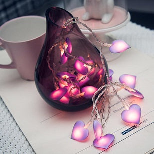 10/20 LED Pink Heart Shaped Fairy Lights For Indoor/Outdoor Use - 4LAUNT.COM