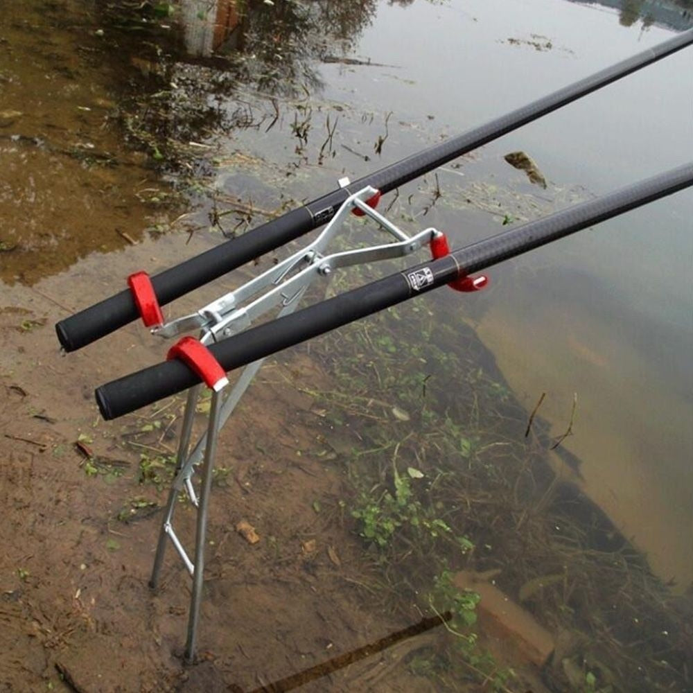Fold-able Adjustable Bracket Fishing Rod Stand