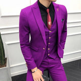 3PC Men's High Quality Luxury Slim Fit Suit - 4LAUNT.COM