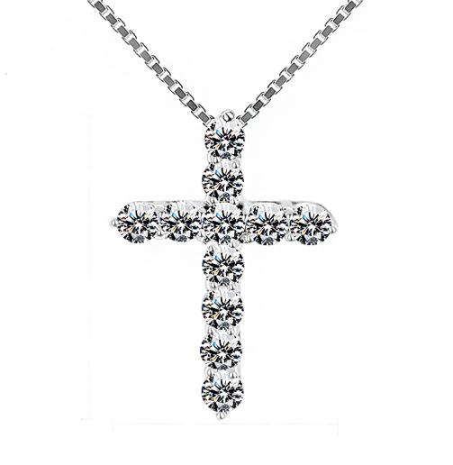 Female Crystal Cross Pendant - 4LAUNT.COM