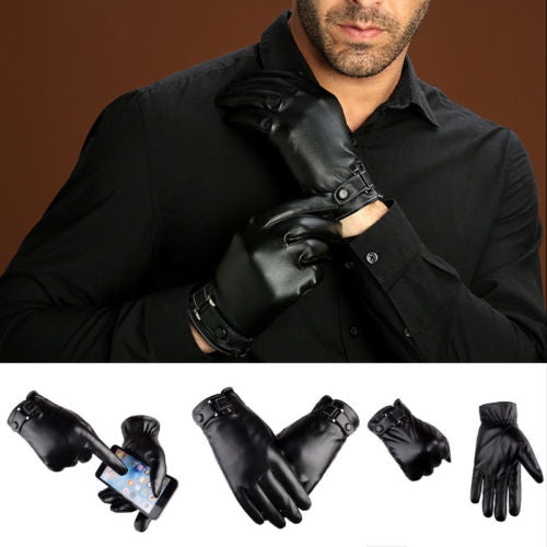 Men's Genuine Leather Luxury Fitted Gloves - 4LAUNT.COM
