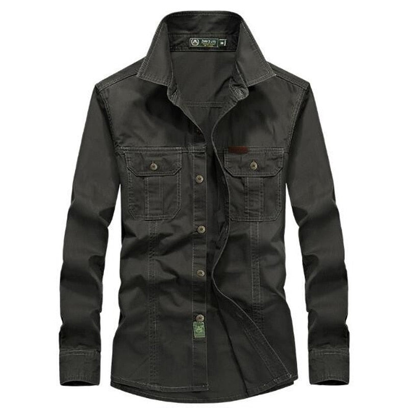 Men's 100% Cotton High Quality Denim Shirt - 4LAUNT.COM
