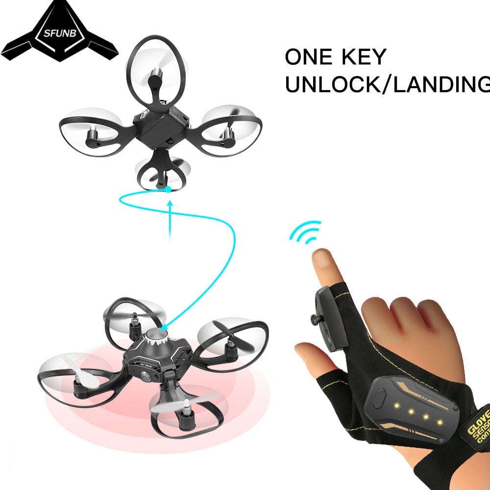 The Original Gloves Controlled Drone - 4LAUNT.COM