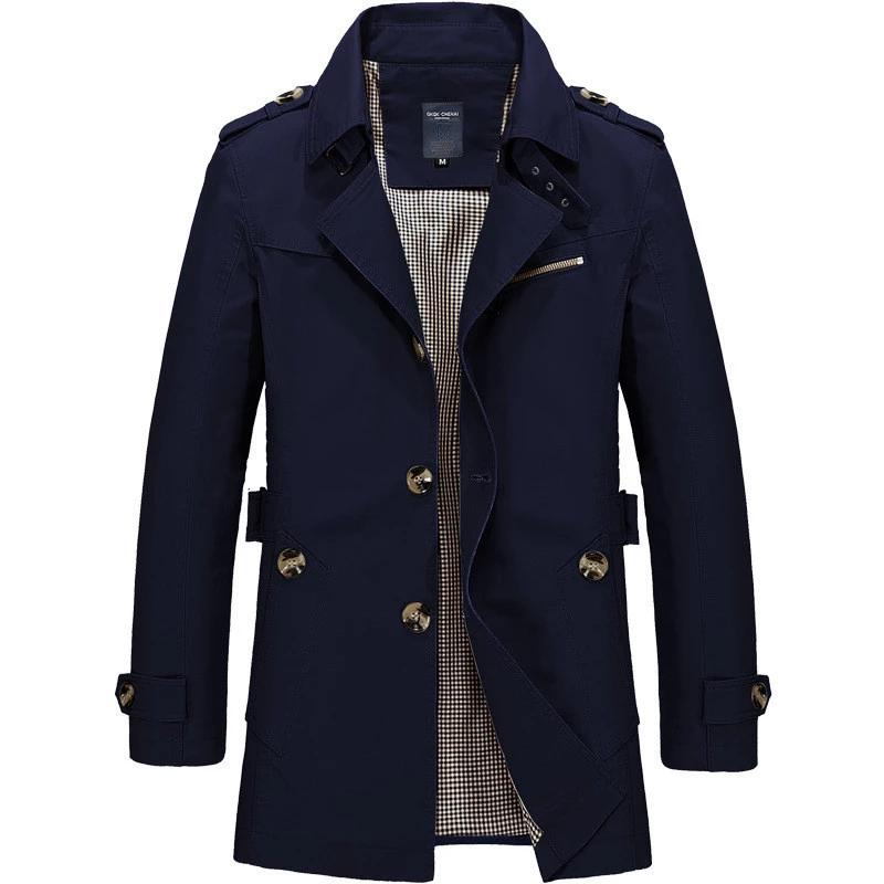 Men's Luxury High Quality Casual Trench Coat - 4LAUNT.COM