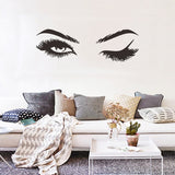 Eyelashes Wall Sticker - 4LAUNT.COM