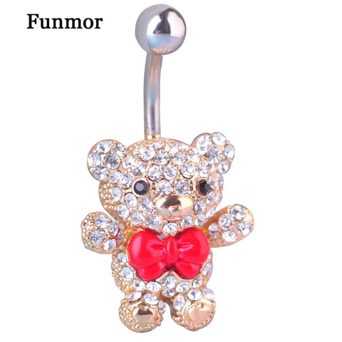 Teddy Belly Button Ring - 4LAUNT.COM