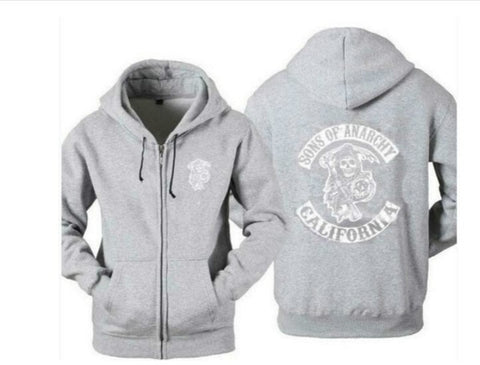 New Arrival Hot TV Sons of Anarchy Zipper Hoodie - 4LAUNT.COM