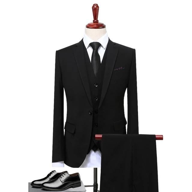 Men's Slim Fit 3 Piece Luxury Suit - 4LAUNT.COM
