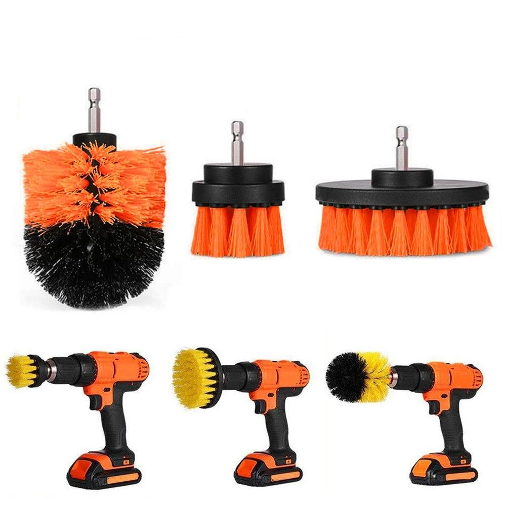 3pcs Cordless Power Scrubber Brush Set - 4LAUNT.COM