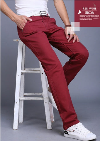 Men's Cotton fitted Chinos - 4LAUNT.COM
