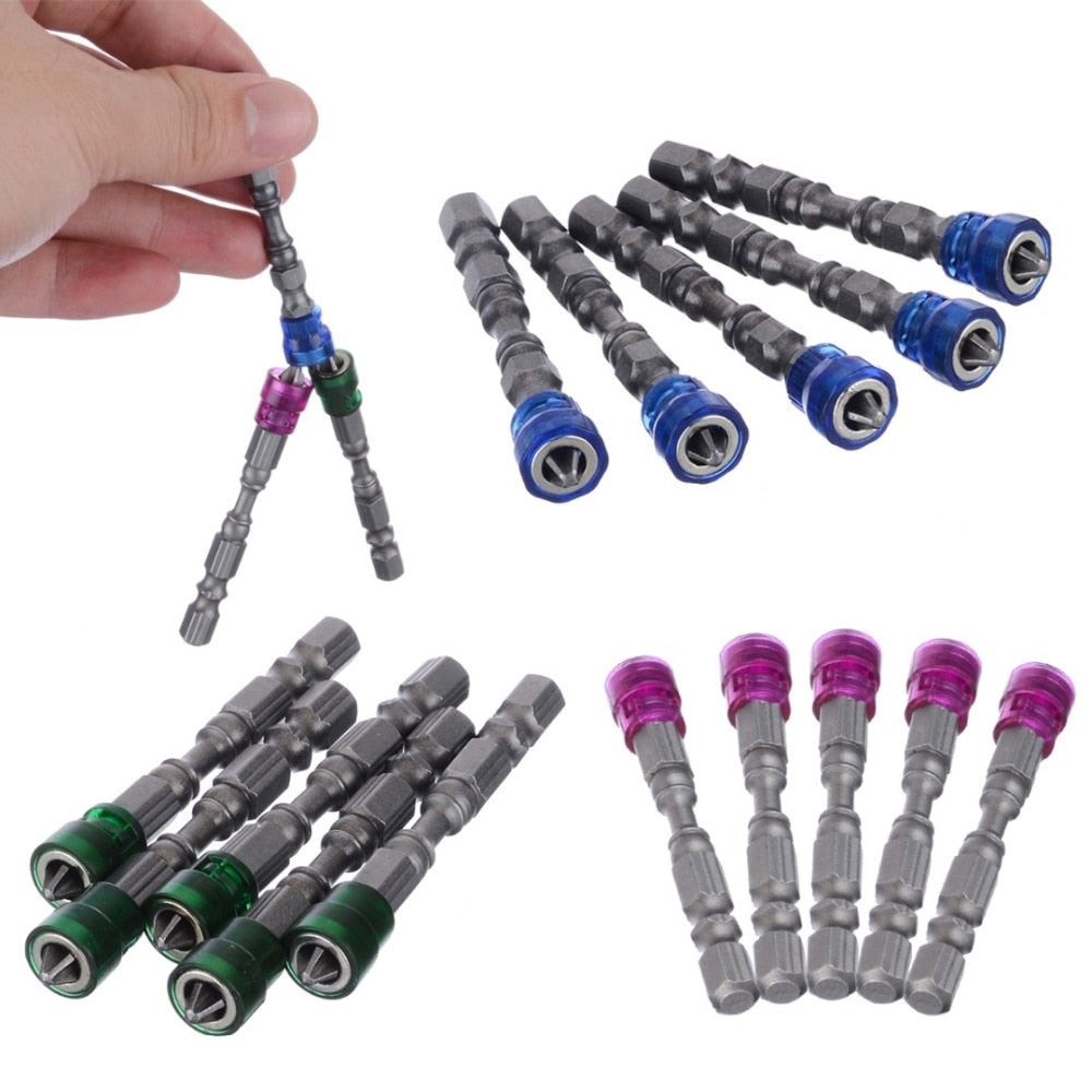 5Pcs Anti-Slip Magnetic Screwdriver For Power Tools - 4LAUNT.COM