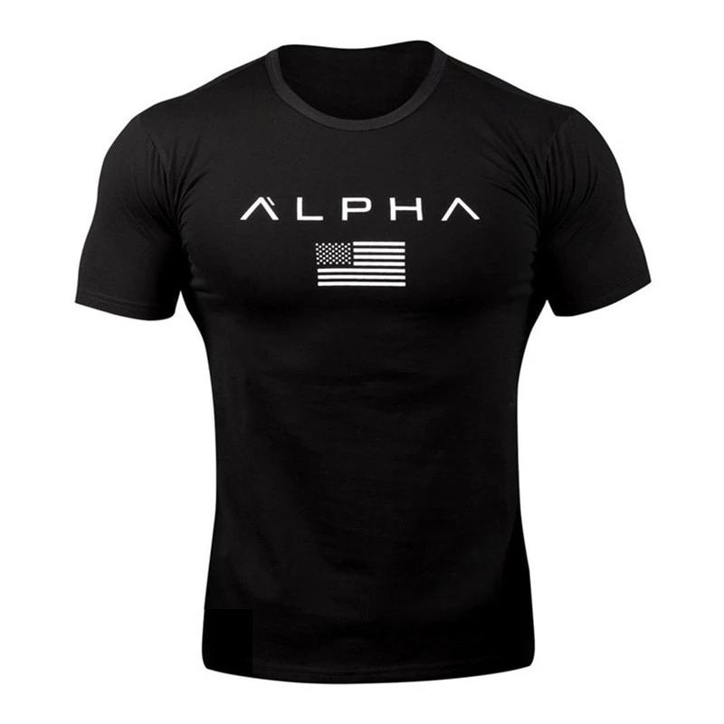 Men's ALPHA Slim Fit Gym or Casual-Wear T-shirt - 4LAUNT.COM
