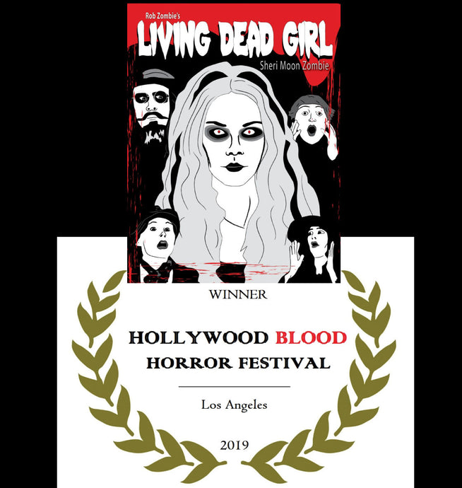 My poster won at the Hollywood Blood Horror Festival
