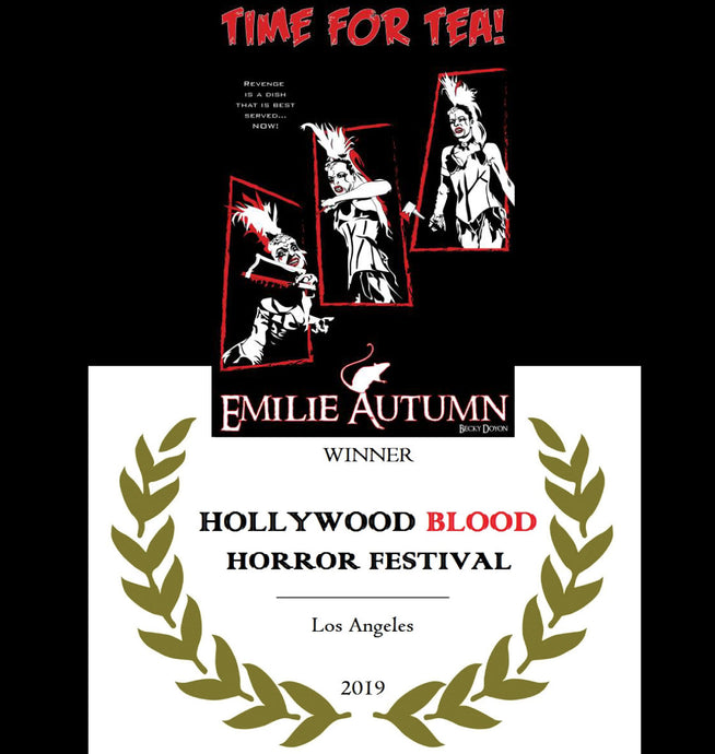 Time for Tea won at the Hollywood Blood Horror Festival