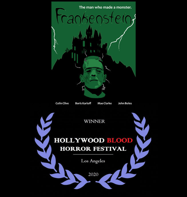 Frankenstein won at the Hollywood Blood Horror Festival