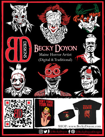 Becky Doyon Clowngirl Horror Holiday 2020 issue
