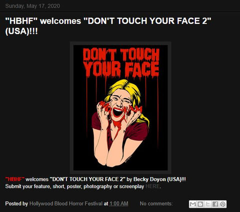 Becky Doyon Don't Touch Your Face 2 Hollywood Blood Horror Festival Selection