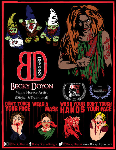 Becky Doyon Clown Girl Horror Magazine Summer