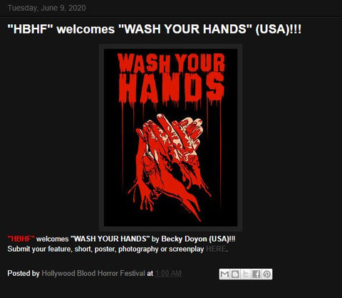Hollywood Blood Horror Festival Selection Becky Doyon Wash Your Hands