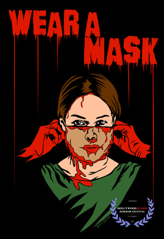 Becky Doyon Wear a Mask Hollywood Blood Horror Festival Win