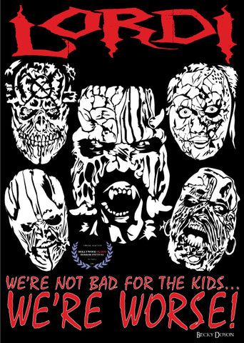 Becky Doyon Lordi We're Not Bad for the kids we're worse Hollywood Blood Horror Fest Selection