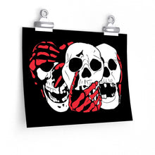 Load image into Gallery viewer, 3 Skulls (With Red) Poster (Various Sizes)