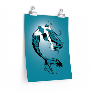 Mermaid Poster (Various sizes)