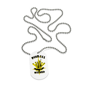 Pinball Wizard Dog Tag Necklace