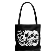 Load image into Gallery viewer, 3 Skulls Tote Bag (Various Sizes)