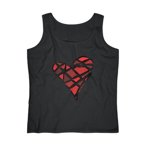 Red Heart Black Women's Tank Top (S-2XL)