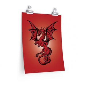 Red Dragon Poster (Various Sizes)