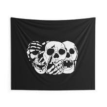 Load image into Gallery viewer, 3 Skulls Wall Tapestry (Various Sizes)