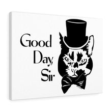 Load image into Gallery viewer, Good Day Cat Canvas Print (Various Sizes)