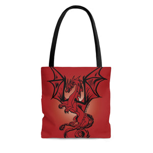 Red Dragon Tote Bag (Various Sizes)