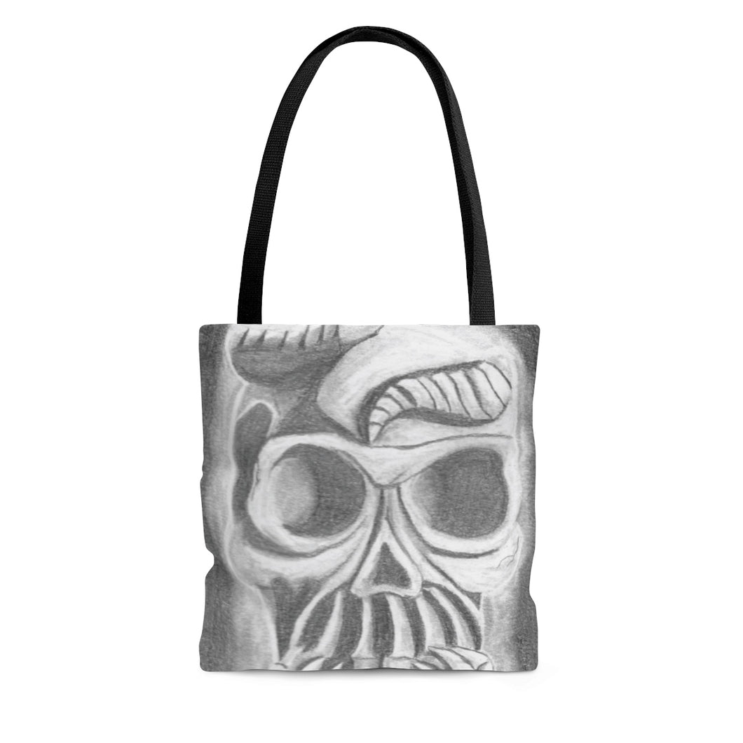 Skull in Hands Tote Bag (Various Sizes)