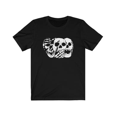 3 Skulls Black Cotton Tee (XS-3XL)