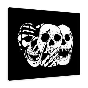 3 Skulls Canvas Print (Various Colors)