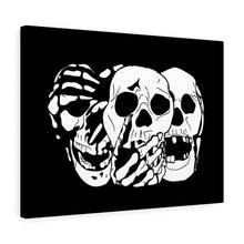 Load image into Gallery viewer, 3 Skulls Canvas Print (Various Colors)
