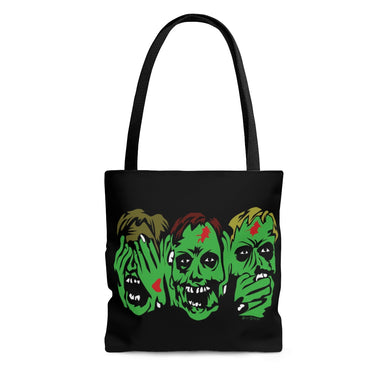 3 Zombies Tote Bag (Various Sizes)