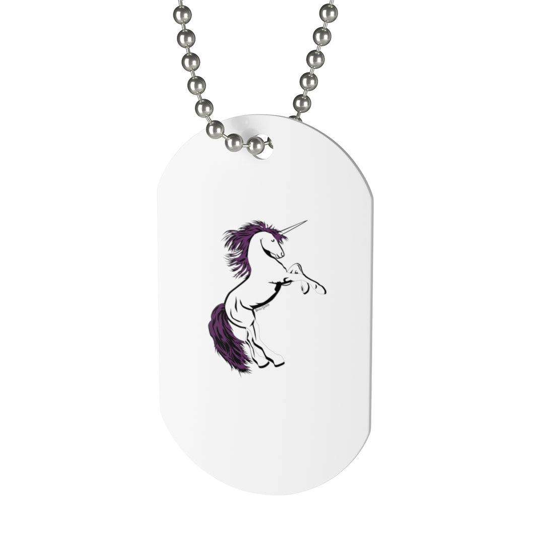 Unicorn Dog Tag Necklace