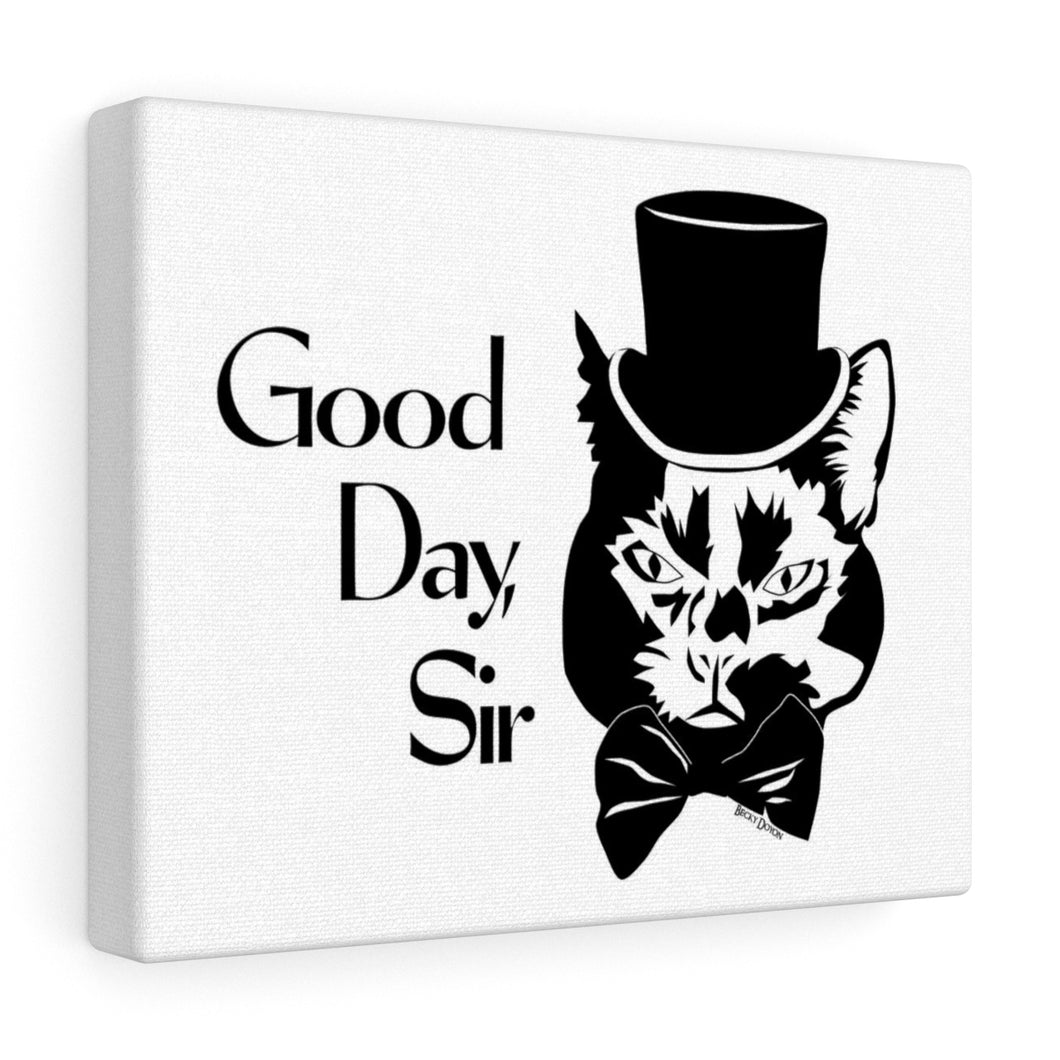 Good Day Cat Canvas Print (Various Sizes)