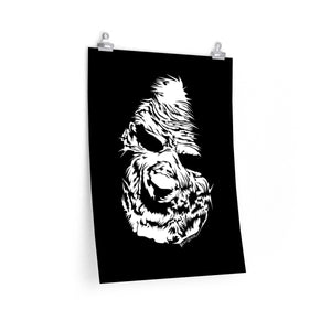 Zombie Face Poster (Various Sizes)