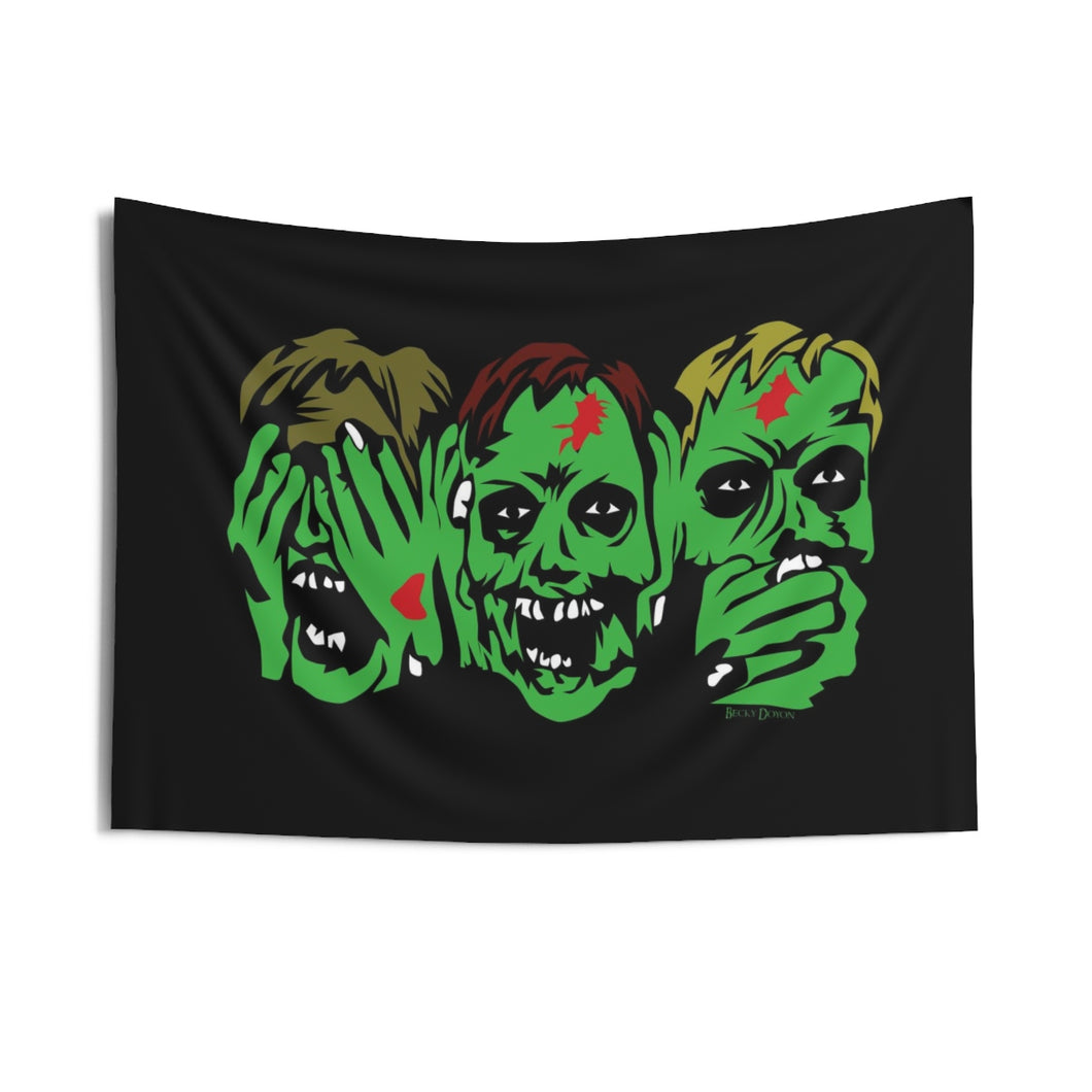 3 Zombies Wall Tapestry (Various Sizes)